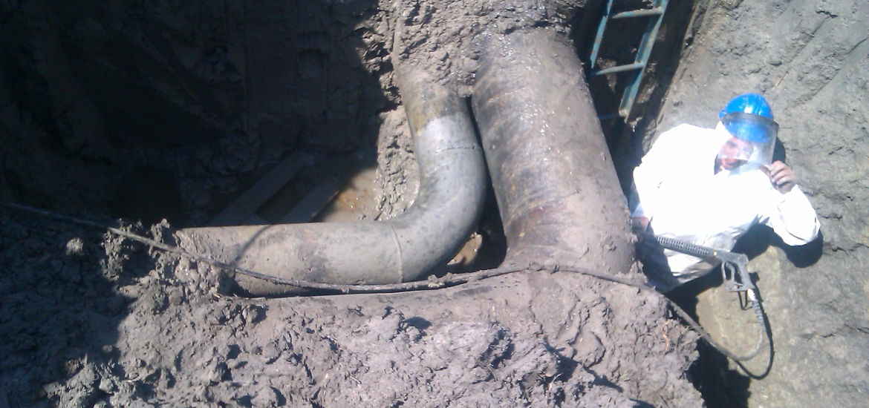 Reparatie si protectie colector gaz lift